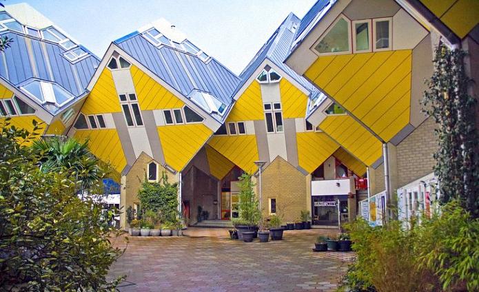Rotterdamin Meshur Küp Evleri Radyo Deniz Hollandanin Türkce